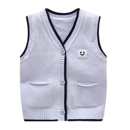 40d7ba989197 Knitted animal sweaters online shopping - Casual Baby Sweater Knit Cotton  Boys Vest Sleeveless V Neck