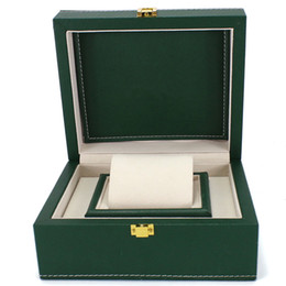 China relogio Top Luxury Gift Box Case For Bracelet Bangle Jewelry Wrist Watch Boxs Green Leather watch box suppliers