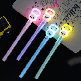 Stationery Australia - Multi-functional Cute Creative Stationery Black Ink Led Flashlight Pen Office School Gift student Pen H1227