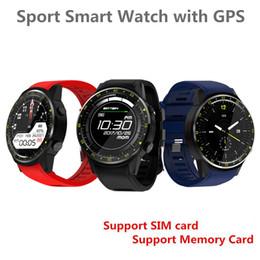 smart watch f1 2019 - F1 Sports Smartwatch Phone 1.3 inch MTK2503 Dual Support SIM TF Card Bluetooth GPS Camera Heart Rate Sleep Monitor Smart