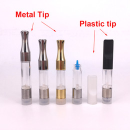 Chinese  E cigs disposable vaporizer G2 atomizer .5 1ml vape pen vaporizer cartridge oil empty 510 cartridge with metal drip tip manufacturers