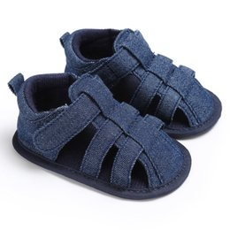 Baby Canvas Shoe Wholesale NZ - 2017 Canvas Jeans Baby sandal Moccasins Summer Boys Sneakers Infant Shoes Baby Sandals