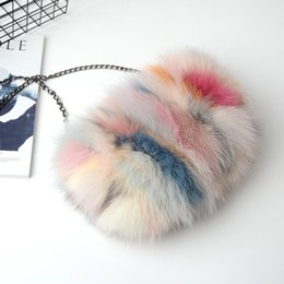 33ac1d38a5 Hot Sale and New Multi-functional Fox Hair Fur Bag Women s Chain Single Shoulder  Messenger Bag Warm-up Bracelet