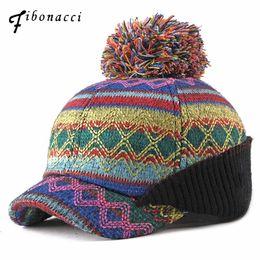 $enCountryForm.capitalKeyWord Australia - Fibonacci 2018 New High Quality Multicolor Knitting Baseball Cap Female Hairball Short Brim Snapback Women for Hats