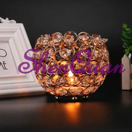 $enCountryForm.capitalKeyWord UK - Free shipping crystal Beaded Bowl Votive Holder Round 4 inch Silver Globe Candle holder wedding centerpeiece