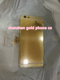 Iphone Real Gold Australia - 2018 real 24K Gold FULL DIAMOND crystal Plating Battery Back Housing Cover Skin for iPhone 6 6s 24kt 24ct Limited Edition Gold cases