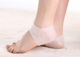 Moisturising Socks Australia - Silicone Moisturising Heel Cracked Foot Care Protectors Tool Socks Gel Socks with Small Holes 1 Pair Foot Care Tool H014