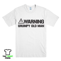 Old Man T Shirts NZ - WARNING GRUMPY OLD MAN FUNNY PRINTED MENS T SHIRT GRANDAD DAD NOVELTY GIFT IDEA