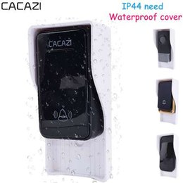 wireless bells UK - CACAZI Waterproof cover FOR Wireless Doorbell smart Door Bell ring chime button Transmitter Launcher call Accessories heavy rain
