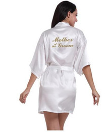 China Wedding Mother of the groom Bride Floral Bathrobe Kimono Night Bath Robe Fashion Dressing Gown For Women S1015 cheap yellow wedding dress for mother bride suppliers