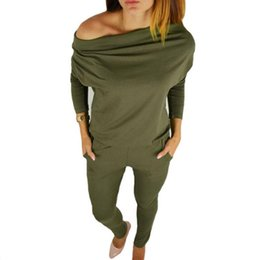 Yellow bodYsuits online shopping - 2018 Autumn Female Body Long Sleeves Overalls for Women Rompers Jumpsuits Femme Sexy Bodysuits Lady Green Playsuits