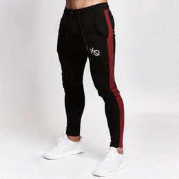 Опт 2018 Autumn New Mens Jogger Sweatpants Man Running Sports Workout Training Trousers Male Gym Fitness Bodybuilding  Pants