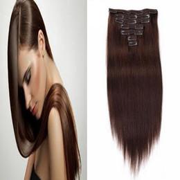 "$enCountryForm.capitalKeyWord Canada - Clip In Human Hair Extensions Straight 7pcs Set Machine Made Remy Brazilian Hair Clips 14"" 16"" 18"" 20"" 22"" 24"" 100% real human hair"