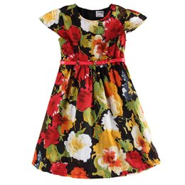 $enCountryForm.capitalKeyWord UK - nova kids summer double girl dress sleeveless flowers frock floral printed girl dress with sashes newest design 2016 hot sale