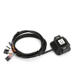 $enCountryForm.capitalKeyWord NZ - Korea styleDesktop PC Remote Controller Restart Computer power Switch PCI-E Mode usb on off switch Button with 2 USB ports