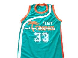 c218630605c8 wholesale Moon  33 Flint Tropics Movie New Basketball Jersey Teal Green Stitched  Custom any number name MEN WOMEN YOUTH BASKETBALL JERSEYS