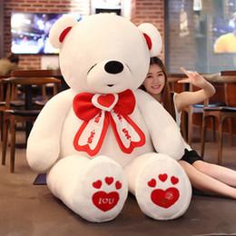 Life Size Toy Christmas Australia - life size giant teddy bear stuffed big valentines day bear i love you toys animals bears doll