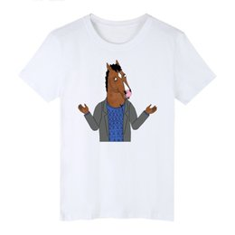 Wholesale bojack horseman online – design Blackday Funny T Shirts BoJack Horseman fitness t shirt Men cartoon casual T shirt Simple Style Tee Shirt camisa masculina