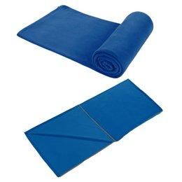 Кемпинг спальный мешок флис спальный мешок с хранения для пеших прогулок на открытом воздухе деятельности (синий)