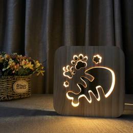 $enCountryForm.capitalKeyWord Australia - fish bones LED 3D Light Lamp Wooden Nightlight,USB Power Home Bedroom Table Desk Decoration Lamp Wood 3D Carving Pattern LED NightLight