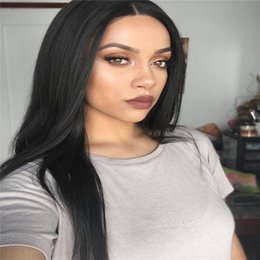 $enCountryForm.capitalKeyWord NZ - Long straight natural looking hair glueless lace front wig & full hair lace wig for african americans woman 8-26inch heat resistant