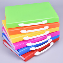 expanding folders 2019 - Hot colored Pockets Expanding Files Folder A4 Expandable File organize Portable Accordion File Folder Office Document Br