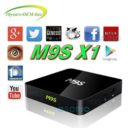 Wholesale Best Hot M9S X1 K Amlogic S905X Rockchip RK3229 Quad Core Android TV Box Media Player Support WiFi D