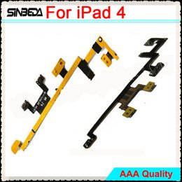Volume Control Replacement Australia - Sinbeda New High Quality Replacement Repair Parts Power Button On Off Volume Control Flex Cable For iPad 4 Free shipping