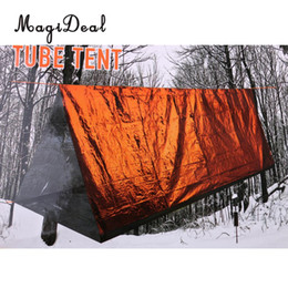 Need Fiber Australia - MagiDeal Portable 2 Person Tube Tent Emergency Survival Hiking Camping Shelter for Outdoor Travel Backpacking Hiking Shelter