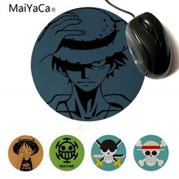 round mouse pads NZ - Yinuoda 2018 New One Piece Straw Hat Luffy DIY Design Pattern Game Lockedge mousepad 20x20cm 22x22cm diameter round mouse pad