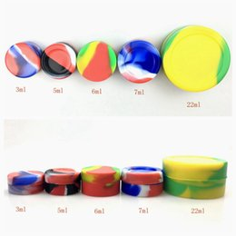 $enCountryForm.capitalKeyWord Australia - Hot selling 3ml 5ml 6ml 7ml 22ml round Silicone Non stick Wax Containers small silicone jars dab wax container