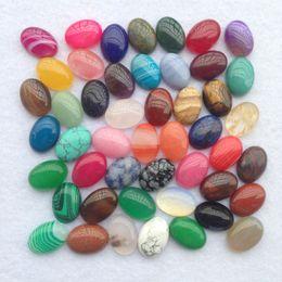 $enCountryForm.capitalKeyWord Canada - Natural Stone Ellipse Beads Loose Charms Accessories DIY Bead For Jewelry Making Amethyst Crystal Opal Flower Stripe Agate Etc Stone 1 5wu Y