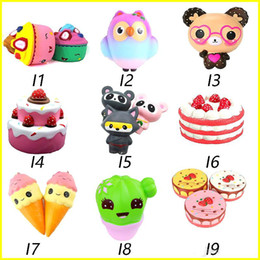 $enCountryForm.capitalKeyWord NZ - Squishy Toys squishies Rabbit tiger owl panda pineapple bear cake mermaid Slow Rising Squeeze Cute Cell Phone Strap gift for kid to