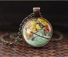 $enCountryForm.capitalKeyWord Australia - New Arrived DIY Globe Dome Necklace Earth World Map Pendant Glass Chain Jewelry New York Map Handmade Necklace