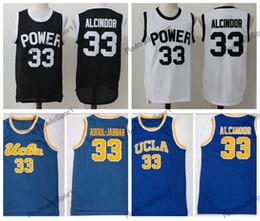 857a281d2 Mens Vintage 33 Lewis Alcindor Jr. Power Memorial Academy High School Basketball  Jerseys UCLA Bruins Kareem Abdul-Jabbar Stitched Shirts