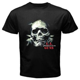 Pink Compression Shorts Men Australia - Military T Shirts O-Neck Men Short Sleeve Compression La Guns Covered In Guns T Shirts