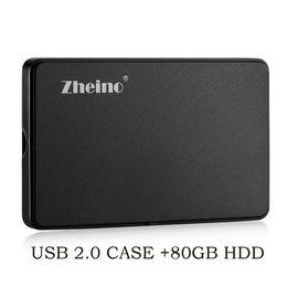 "hdd desktop 2019 - zheino 2.5"" 80GB HDD Portable External Hard Drive For PC Laptop Desktop discount hdd desktop"