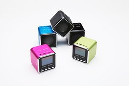 Multimedia Player Lcd Australia - Wholesales Music Angel Porteable Loud Mini Sound Box Cube Amplified Multimedia Speaker System with FM Radio LCD Display Screen