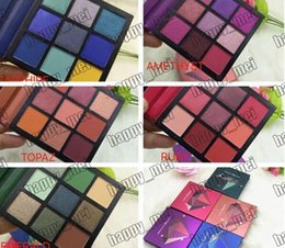 beauties factory palette UK - Factory Direct DHL Free Shipping New Arrival Hot Brand New Makeup Eyes Beauty Gemstone Palette Mini 9 Colors Eyeshadow!5 Different Colors