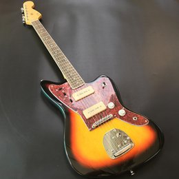 Discount electric jaguar - Jazzmaster deluxe Jaguar Electric guitar S-P90 pickup,Guitar,Sunset color,All color Available,Real photo showing,free sh