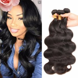 nature human hair inches Canada - Best Selling Cheap Unprocessed nature black human Body wave 8 - 30 inch, 5A quality rosa hair brazilian body wave 4 PCS Lot 3,4,5pcs lot
