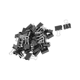 $enCountryForm.capitalKeyWord UK - PPYY NEW -Metal spring Binders Clip for Paper document Office stationery paper clips 15mm 48pieces Black