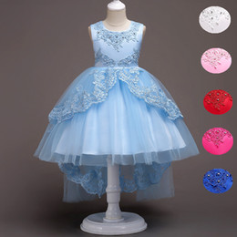 $enCountryForm.capitalKeyWord Canada - High Low Lace Flower Girls Dress Wedding Teens Prom Party Perform Gowns Kids Children Clothes
