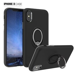 Chinese  Magnetic Ring Holder Grip Kickstand Case For Samsung S8 S9 Plus Note 8 360 Degree Rotating Cover For iPhone X 8 7 6 Plus OPPBAG Aicoo manufacturers