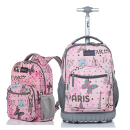 09f3910c1028 Letrend Student Travel Duffle Rolling Luggage Set Cute Cartoon Carry On Trolley  Children Cabin Capacity Backpack School Bag
