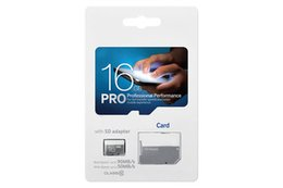 High Speed Sd Cards Canada - PRO 80MB S 90MB S 32GB 64GB 128GB 256GB C10 High Speed TF Flash Memory Card Class 10 Free SD Adapter Retail Blister Package