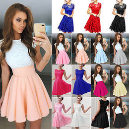 $enCountryForm.capitalKeyWord NZ - FGB Women Lace Short Dress Cocktail Party Evening Formal Ball Gown Prom Mini Dresses