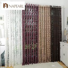 Rideaux semi-occultants de style à la mode cuisine rideaux fenêtre salon salon rideau panneau tissus jacquard porte