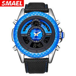 $enCountryForm.capitalKeyWord Australia - DHL Wholesale SMAEL Men Military Sport Watches Mens LED Analog Digital Watch Male Army Dual Display Nylon Strap Clock Relogio Masculino 1369