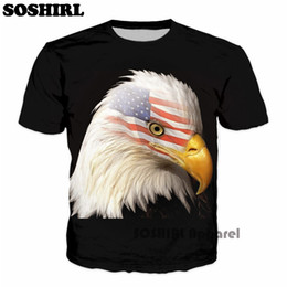 ingrosso camicia di stampa 3d completa-Casual Eagle Warrior d Full Over Print T Shirt Summer Colorful Unisex Tee Galaxy Funny Top Shirt Mens Casual T Shirt Poliestere
